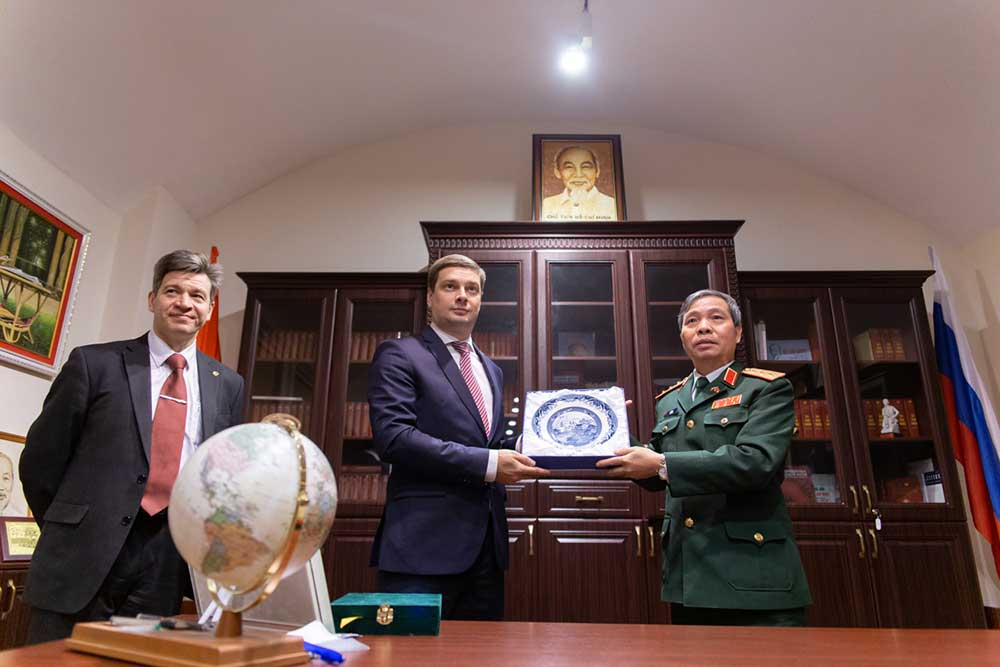 A delegation of the Ministry of Defence of Vietnam visits St Petersburg University