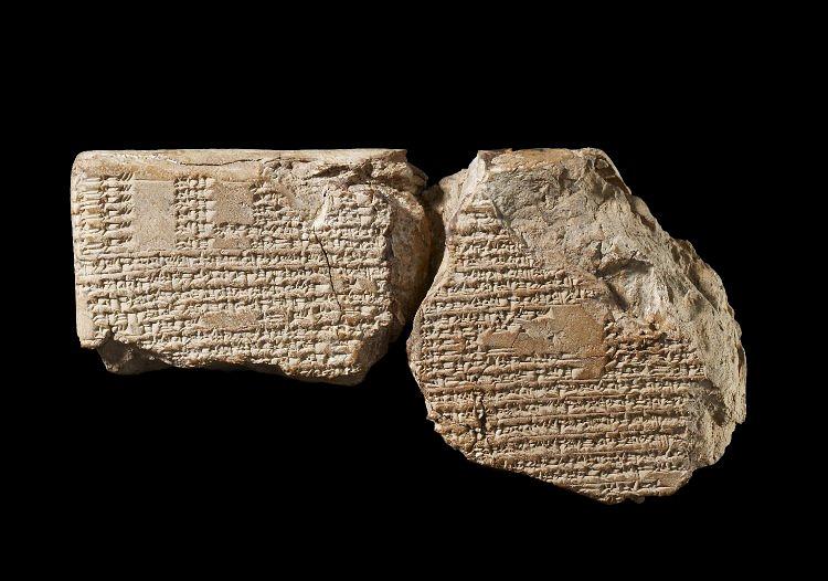 Глиняная табличка из сборника астрономических текстов