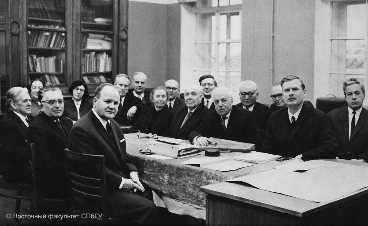 Ученый совет факультета в 1968 г
